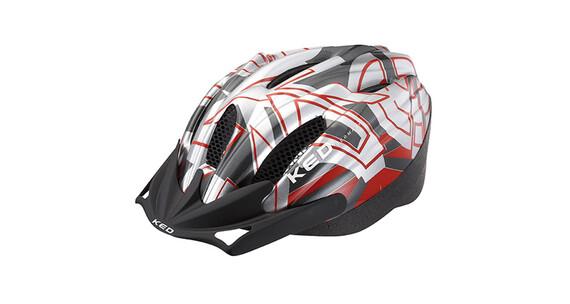 KED Flitzi Helmet silver red